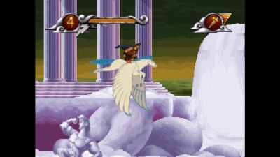 På vingene i Disney's Hercules.