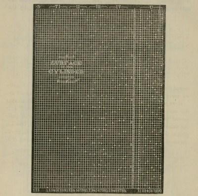 Maskinen leser av trekkene fra en tabell laget på en mekanisk sylinder. Bilde: Franklin Institute.