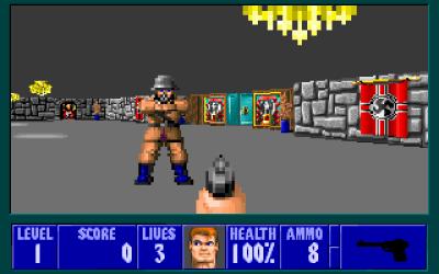 Det mangler ikke på hakekors og annen nazi-symbolikk i spillet, noe som utvilsomt var med å gi det en følelse av å være noe «forbudt og spennende».