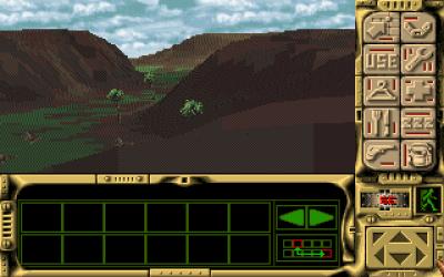 Amiga-versjonen har ikke like mye vegetasjon, men landskapene er fortsatt ganske kule.