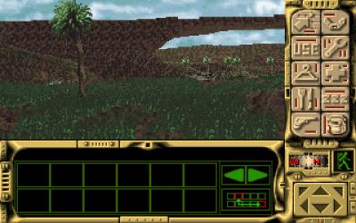 Det er litt vanskelig å se, men under denne kule buen i landskapet ligger restene av romskipet ditt.