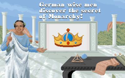 Sid Meier presenterer teknologiene i spillet.