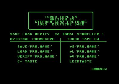 Da er det bare å starte TurboTape 64!