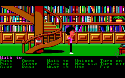 Dette rommet er inspirert av biblioteket på Skywalker Ranch, der George Lucas hadde kontor i andre etasje. Man skulle ha en veldig god grunn for å gå opp dit, så i spillet er trappen stengt.