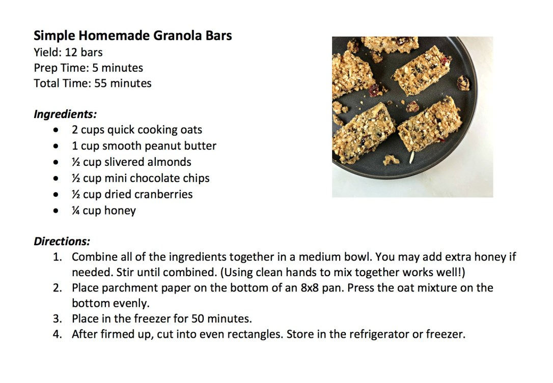 Granola Bar Recipe Screenshot