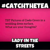 Lady in the Streets: What Do You Think About Ceelo Green Wedding Dress