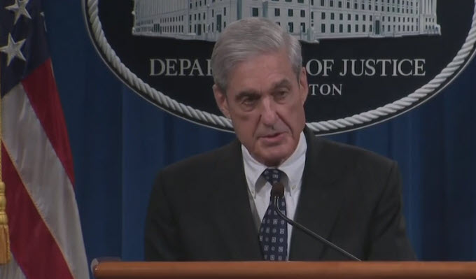 WITHOUT THE SPIN, MUELLER'S PUBLIC STATEMENT CLEARS TRUMP