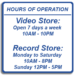 Spin-it Records & Video Store Hours