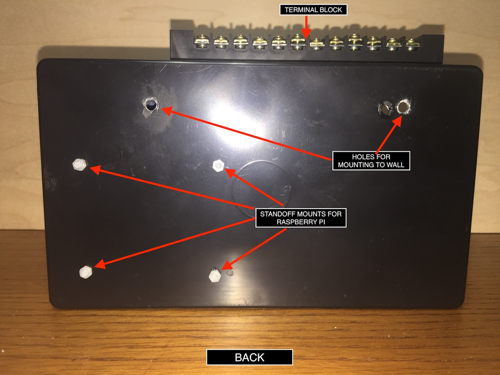 hight resolution of fig 3 back side of the project box with standoff mounts