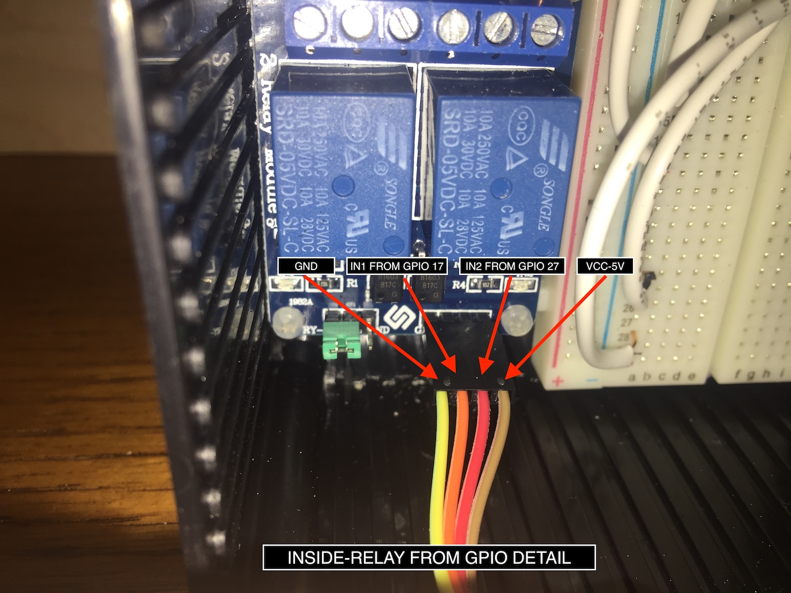 hight resolution of fig 8 how to connect the gpio pins to the relay