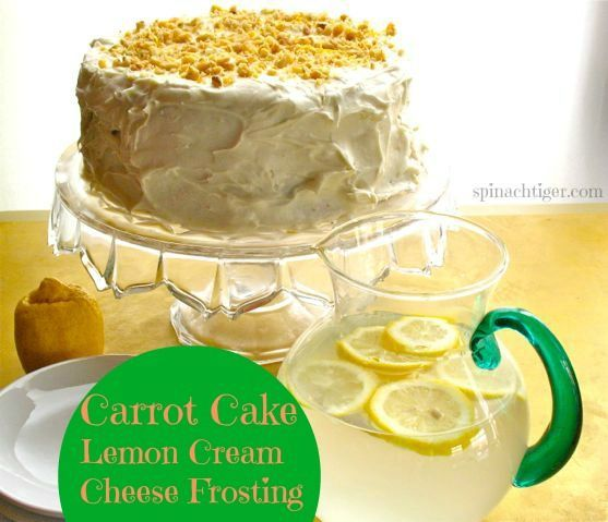 Carrot Cake with Lemon Cream Cheese Frosting by angela Roberts