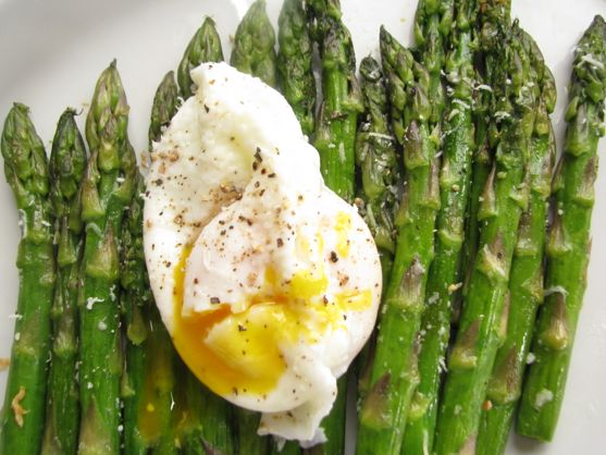 asparagus & poached