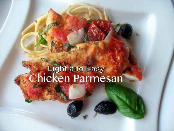 Light Chicken Parm, Healthy Chicken Pasta Recipes from Spinach Tiger