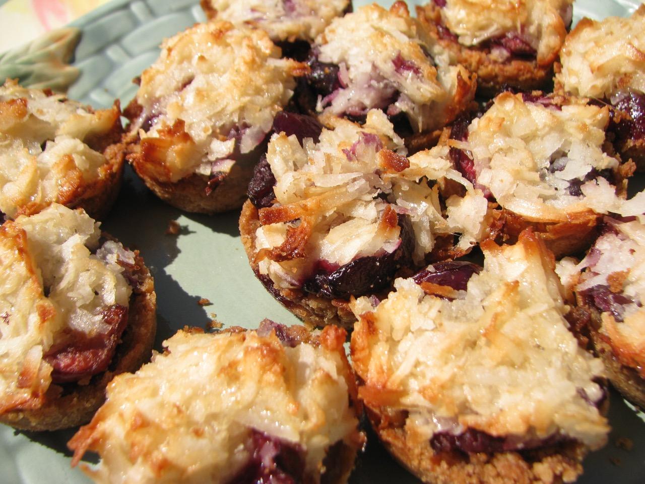 Cherry coconut tarts by Angela Roberts