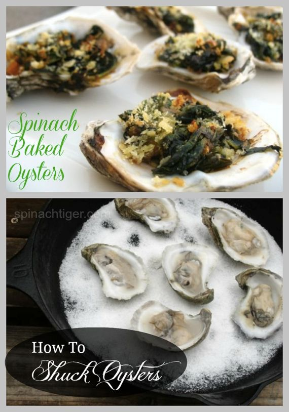 Sustainable Seafood: Baked Oysters with Spinach by Angela Roberts