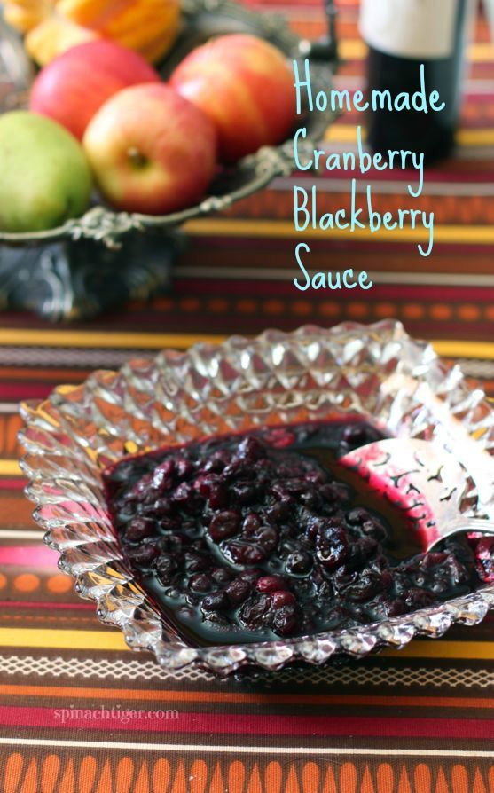 Homemade Cranberry Blackberry Sauce by Angela Roberts