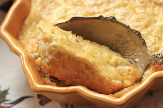 Baked Corn Pudding with Shallot Twist 4