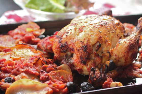 Roasted Chicken Cacciatore