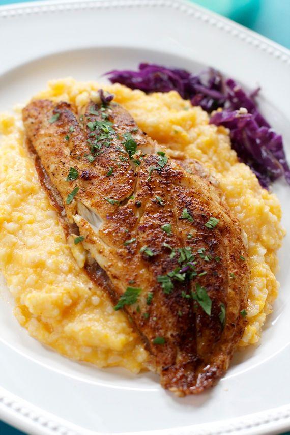 Healthy Fish & Sweet Potato Grits by Angela Roberts