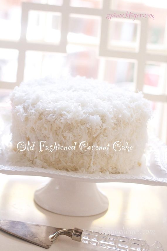 Old Fashioned Coconut Cake With Buttercream Frosting From