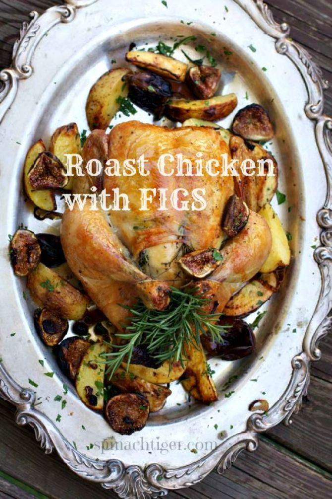 Roast Chicken wiht Figs by angela roberts