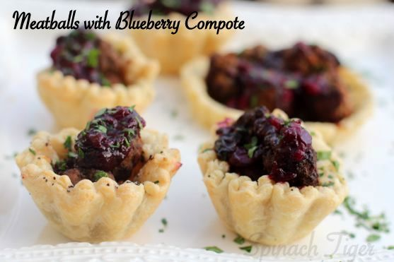 Meatballs with Blueberry Compote