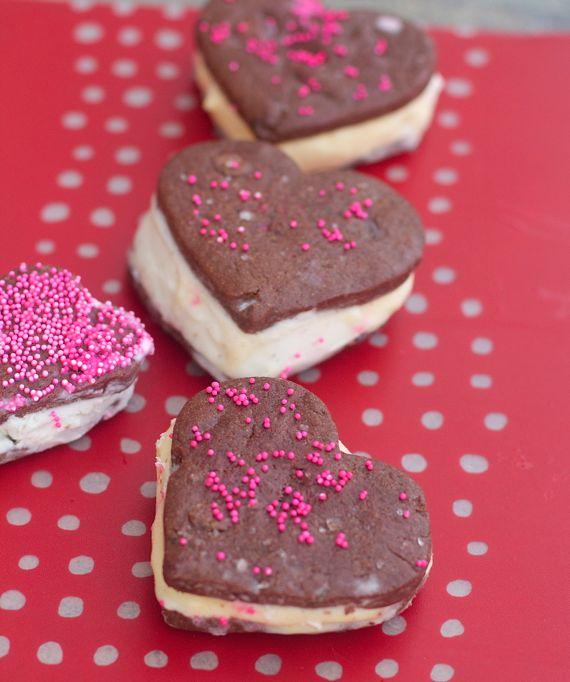 Chocolate sugar cookie ice cream sandwiches by Angela Roberts