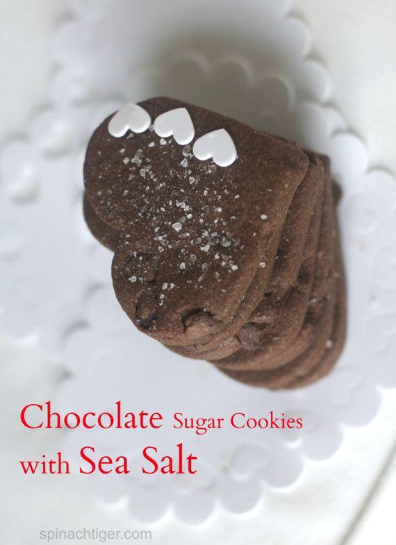 Chocolate Sugar Cookies with Sea Salt by Angela Roberts