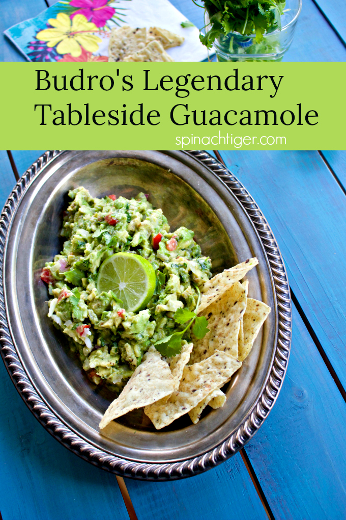 Budro's Legendary Tableside Guacamole from Spinach Tiger