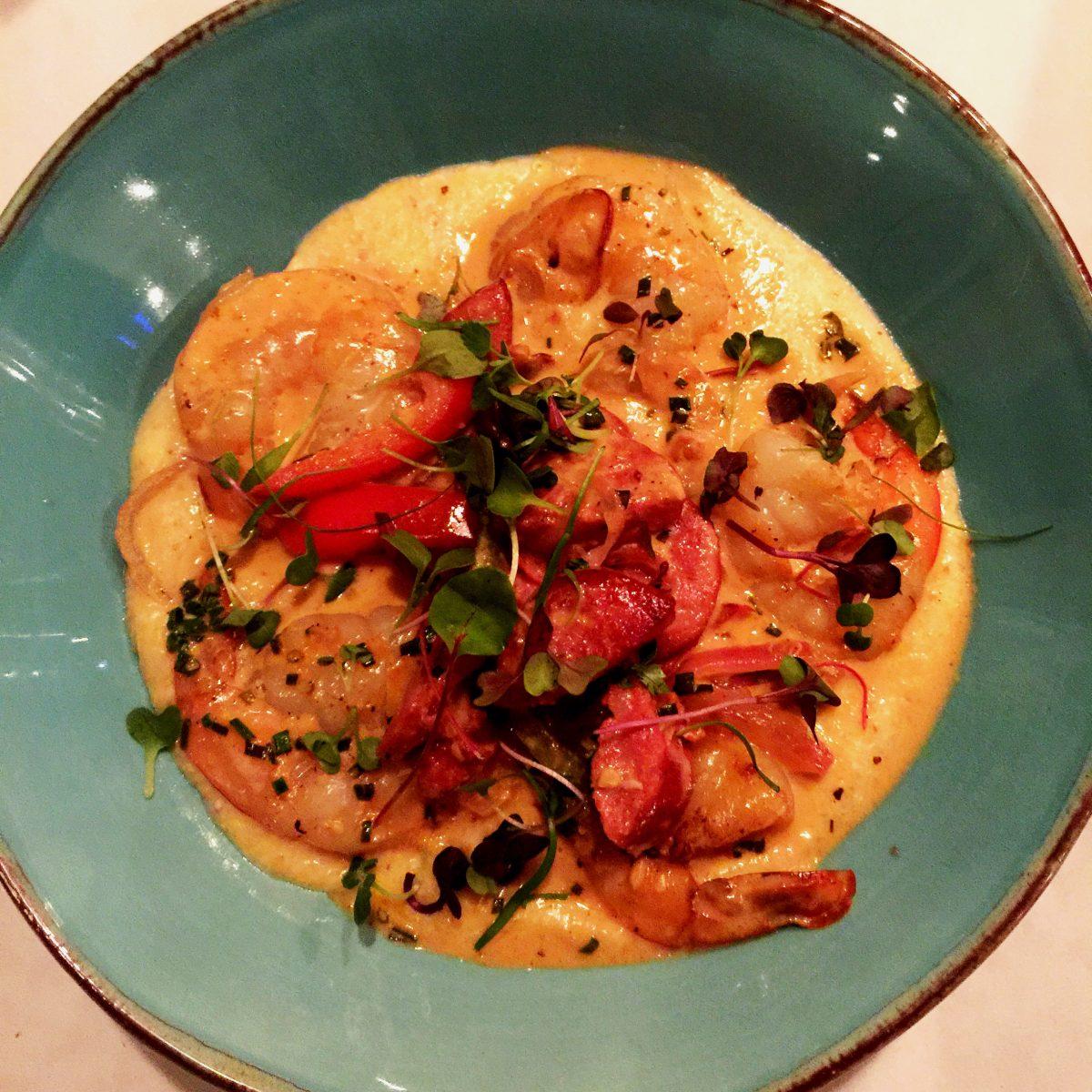 Nashville Restaurants Shrimp & Grits from Spinach Tiger