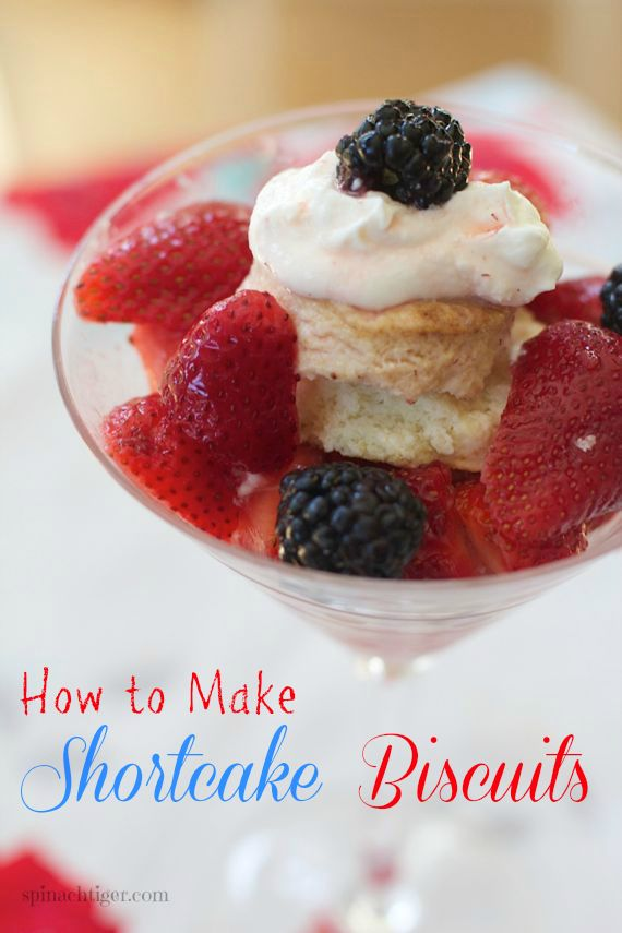 Homemade Shortcake Biscuits for strawberries by Spinach Tiger