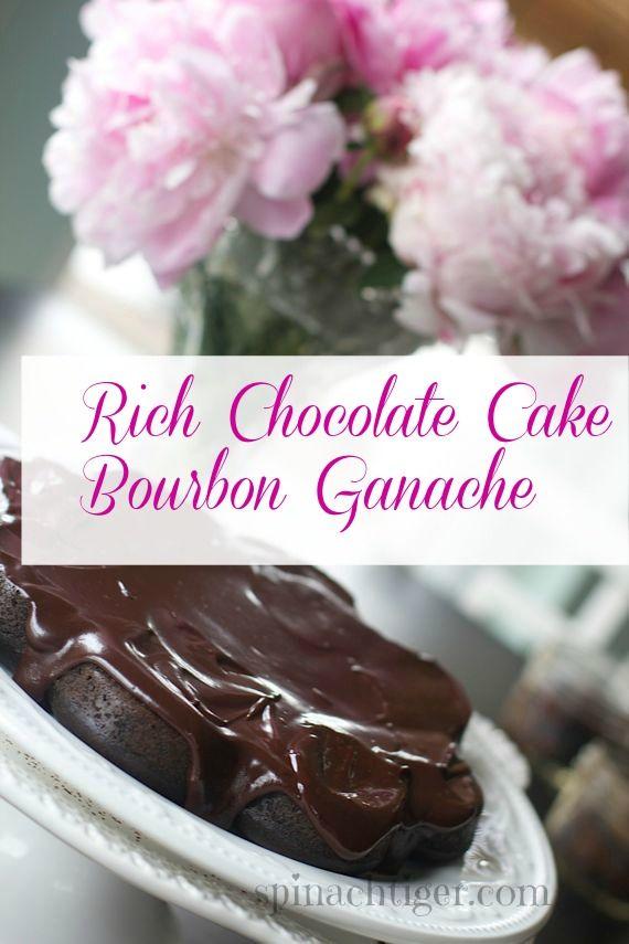 RIch Chocolate Cake with Bourbon Ganache by Angela Roberts