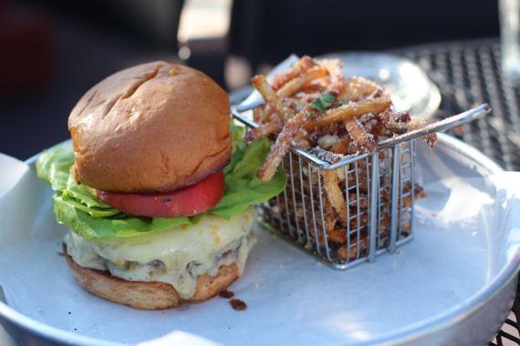 Burger & Fries at tavern