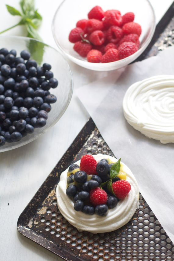 Pavlova Cups and Holiday Side Dishes from Spinach Tiger