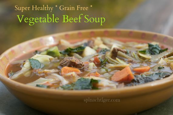Beef Vegetable Soup Paleo Grain Free by Angela Roberts