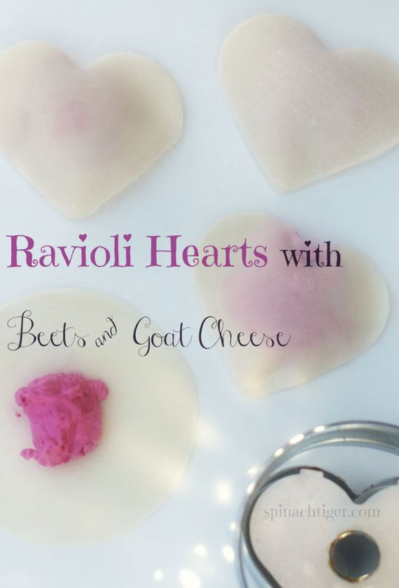 Ravioli with Beets and Goat Cheese