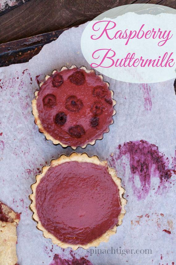 Raspberry Buttermilk Tart made Two Ways by Angela Roberts