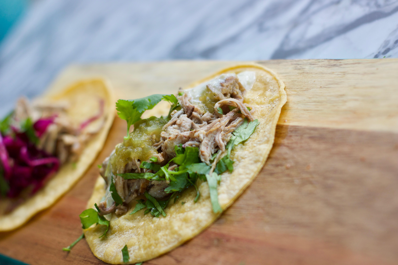taco on a table