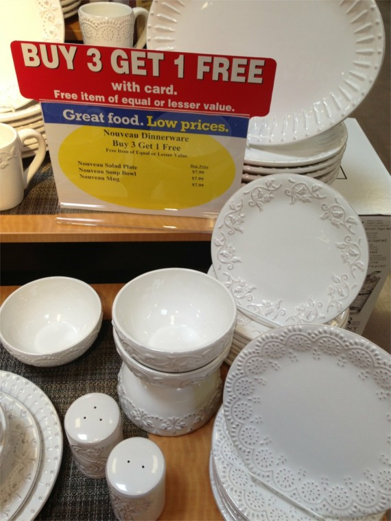 White Dishes at Kroger Marketplace by Angela Roberts