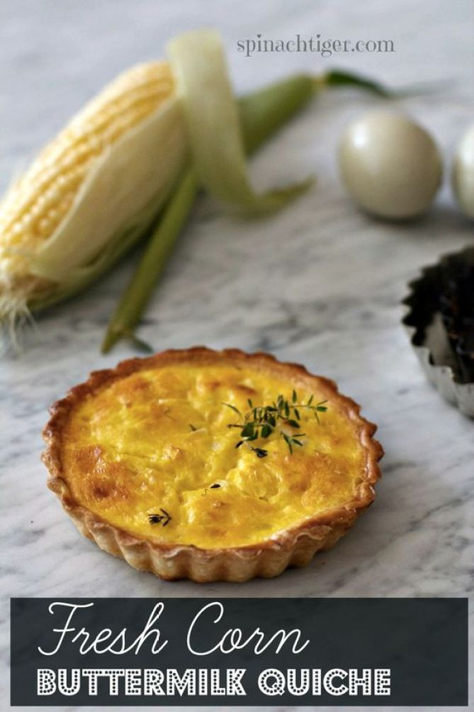 Fresh Corn Buttermilk Quiche by Angela Roberts
