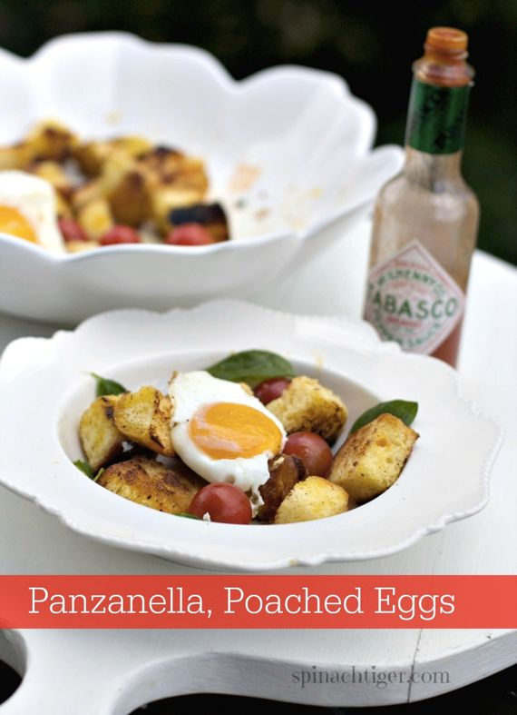 Panzanella with Ruffled Egg  by Angela Roberts