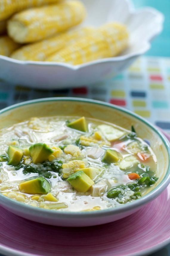 Summer Chicken Soup by Angela Roberts