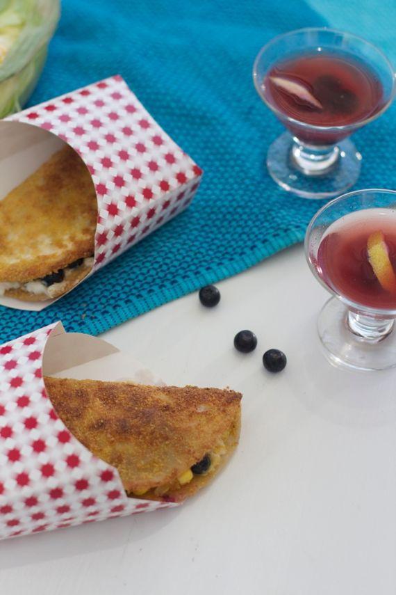 Blueberry Cream Cheese Fresh Corn Dessert Taco By Angela Roberts