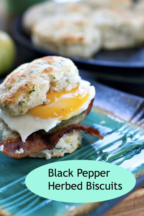 Black Pepper Herbed Biscuits and Fried Green tomatoes by Angela Roberts