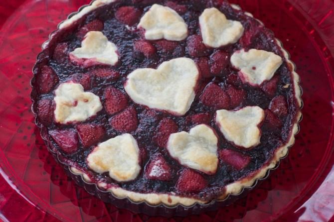 Blueberry Strawberry Pie by Angela Roberts