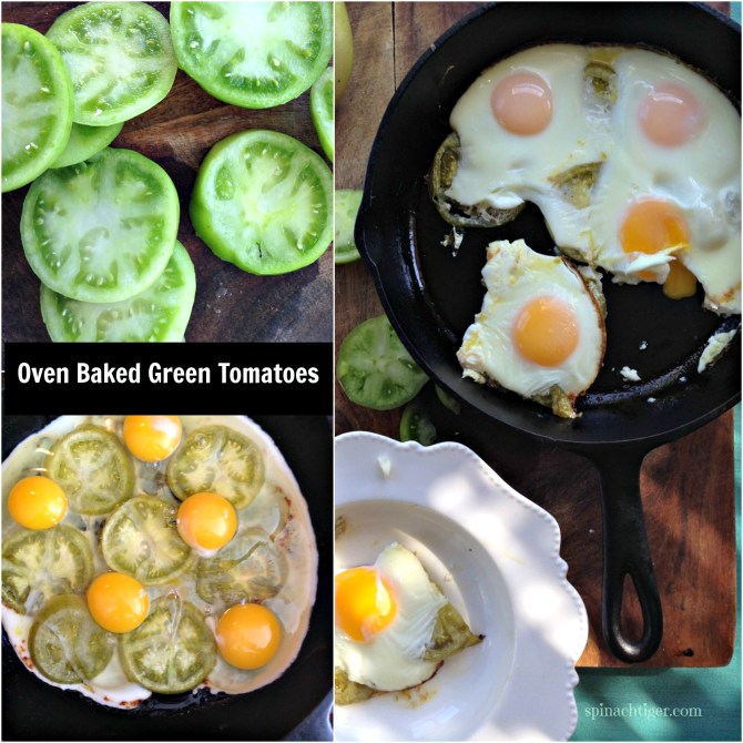 Baked Green Tomatoes with Eggs