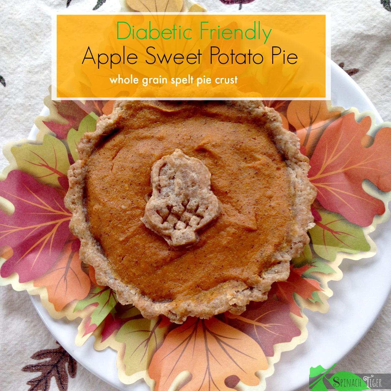 Apple Sweet Potato Pie with Spelt Crust