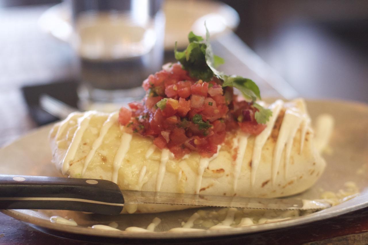Burrito at Saint Anejo Brunch