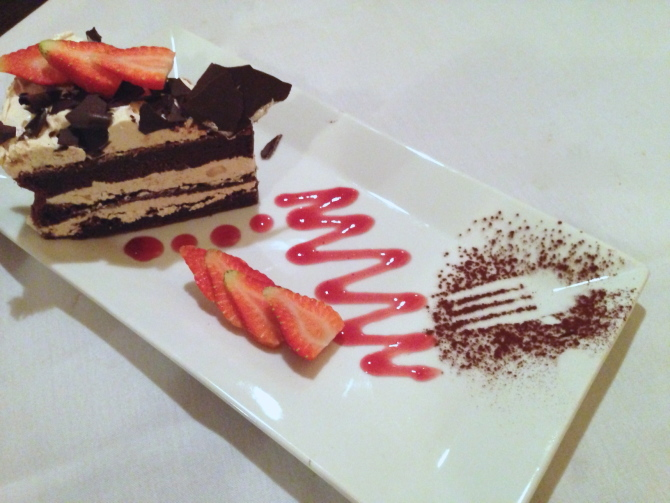 Sole Mio Dessert Chocolate Peanut Butter Cake