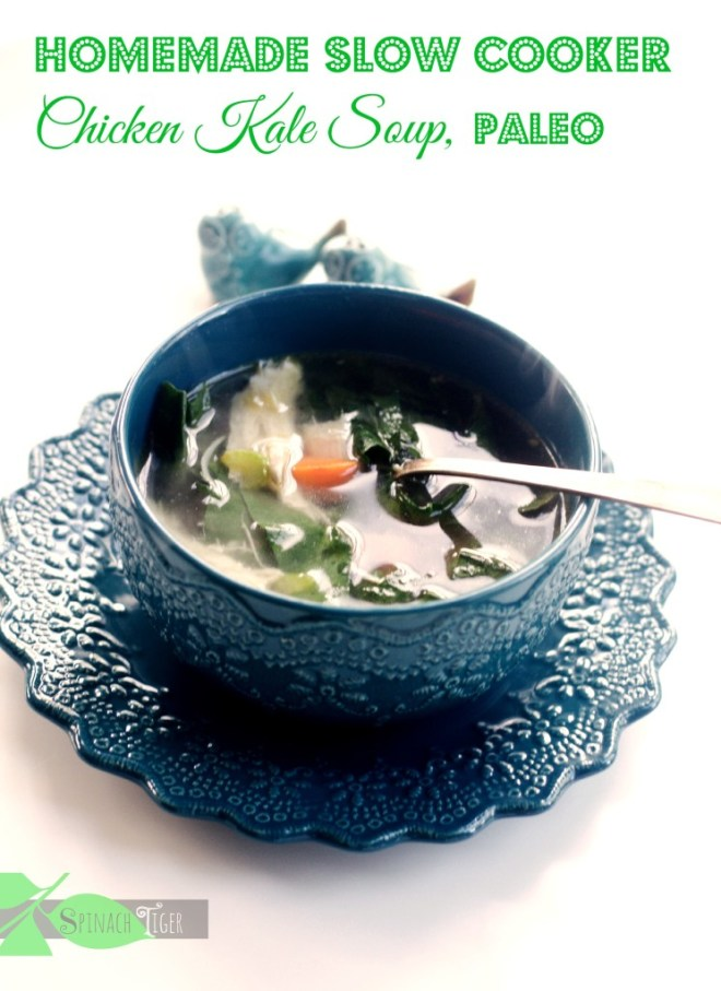 Chicken Kale Soup for National Kale Day by Angela Roberts